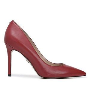 "Sam Edelman Hazel Red Leather Pump 4"" Heel Sz 9.5"